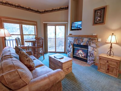 Photo for This 2 bedroom 2 bath condo is perfect for your family ski vacation, Located in Mountain House Base area within a walking distance to the slopes during the winter and close to the hiking and biking trails, is the perfect place to stay!