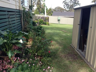 Rear yard, with garden shed