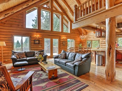 Photo for Log Home on 40 Private Acres By Mt Shasta Ski Park