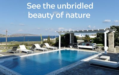 Photo for REMARKABLE VALUE. UNBEATABLE LOCATION. MANU Mykonos Luxury Private villa 200m from the beach! 5br up to 12 guests infinitive Pool