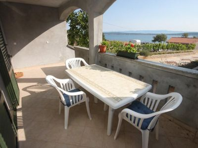 Photo for Three bedroom apartment with terrace and sea view Banj, Pašman (A-8242-a)