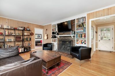 55' TV with every cable channel and plenty of books and games!