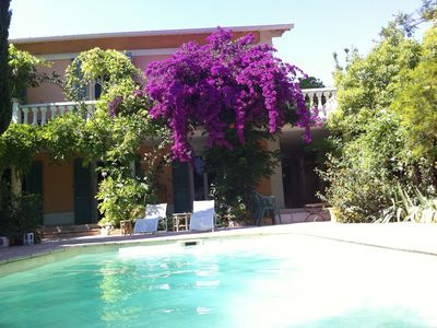 Photo for Provencal house with pool near beach in the south of France