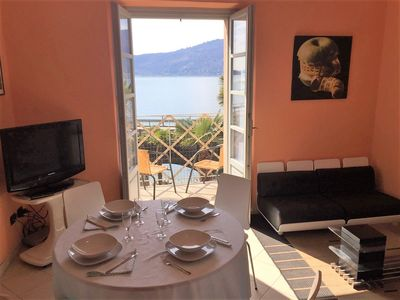 Photo for Gelsomino 3 apartment located in front of the lake with garden