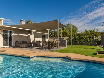 Photo for Modern Elegance with Heated Pool and Putting Green