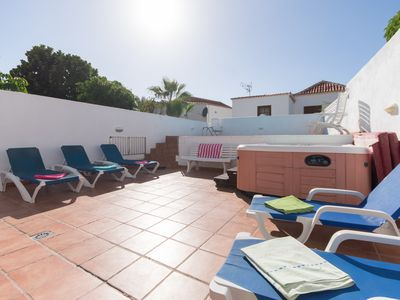 Photo for Beautiful 6 bedroom villa with private gated heated pool