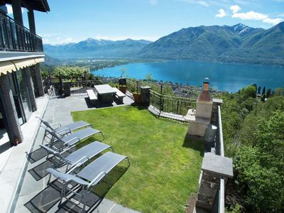Photo for Detached, two-storey holiday home (110m2) with views of Lake Maggio