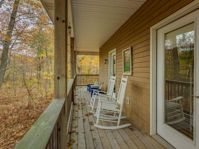 Photo for CHALONNA RETREAT - HARBOR DUNES:  Quiet wooded area with communal pool.