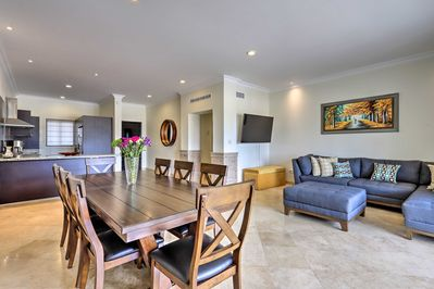 Have a family meal at this Cabo San Lucas condo and enjoy the modern decor!