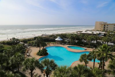 Resort Style Pool & Gulf Views From The Balcony