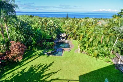 The view from the lanai of Hala Alana