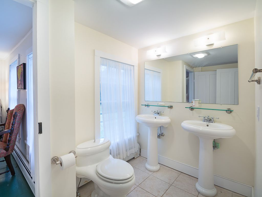 master bathroom. Beautifully Renovated Old Colonial In Seclu      VRBO