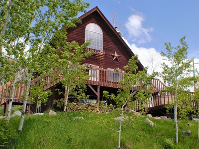 Photo for Lovely Cabin Located Between Downtown and Ski Resort, Hot Tub, Great Views, Pet Friendly