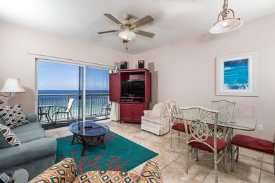 Amazing 6th floor view - Direct beachfront view from the living room and master bedroom in this lovely sixth floor condo at Pelican Isle. Plus there is wireless internet access that can be used on your balcony.