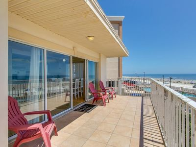 Photo for Beachfront, dog-friendly condo w/ ocean views & balcony - snowbirds welcome!