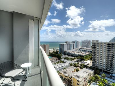 Photo for Modern Luxury Beachfront Hotel 1 Bedroom Corner with Views and 2 Balconies 14