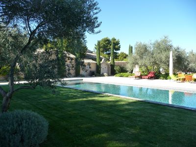 Photo for Authentic Mas in Provence, quiet, near village - Heated swimming pool 17 x 4