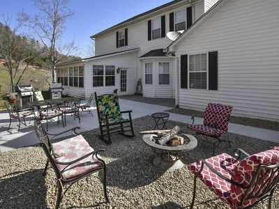 Photo for Mansion in the Smokies: Views, Basketball, Minigolf, Firepit ~ RA249538