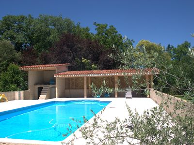 Photo for Les oliviers restaured farmhouse with pool.
