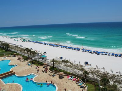 Photo for Breathtaking views of Gulf of Mexico. One Beach Service Setup Included in Season