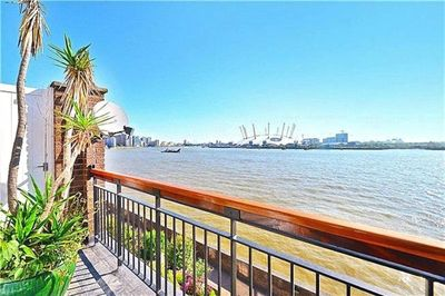 Full balcony & unobstructed views of the River Thames, wildlife- passing ships.