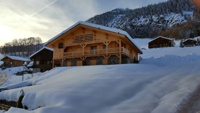 Photo for Apartment in chalet Jeanne-Marie-in the heart of the old village Chinaillon