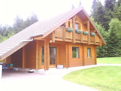 Photo for Chalet 6-8 pers comfort in Gérardmer / top situation, refined, garden, carport