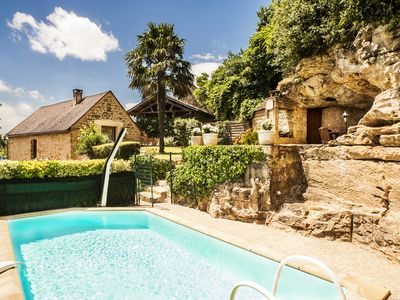Photo for Typical stone house. Swimming pool, garden and spa, stunning view