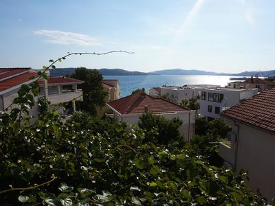 Photo for Two bedroom apartment with balcony and sea view Trogir (A-13623-a)