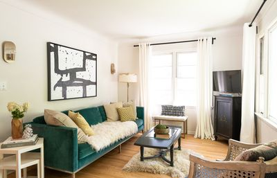 Come relax in our cozy living room where all things hygge are embraced.