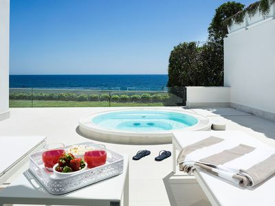 Photo for Mariol - 4 People, Jacuzzi, on the Sea, Garden, Wifi, A/C