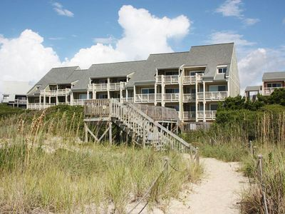 Photo for 2 Bedroom/1 Bath Oceanfront Condo on Caswell Beach with Community Swimming Pool