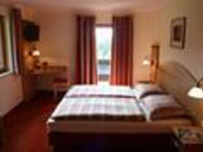 Photo for Double room high wedge with shower / WC, balcony - Rieding, country house