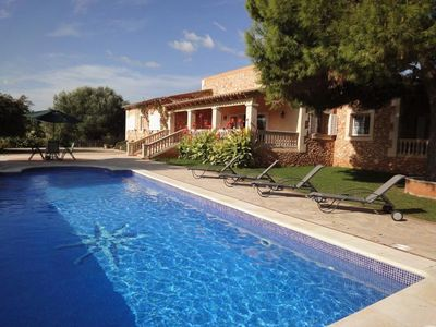 Photo for Attractive, recently built, Mallorcan style property with splendid sea views.