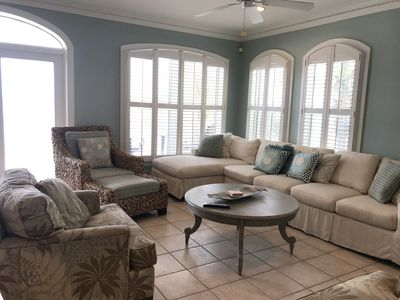 Photo for Luxurious Villa Gulf Front 3BD 3BA POOL, GREAT LOCATION, VIEWS, COMFORT