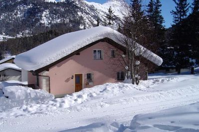 house on cross-country ski trail