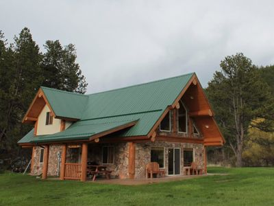 Photo for 3 Bdrm Log Cabin Nestled in Beautiful Meadow on Spring Creek: Call For Rate Info