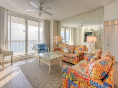 Photo for Comfortable Condo, Gulf-front balcony, On-site pool, On the beach
