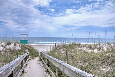 The perfect beach retreat awaits you at this 2-bedroom, 2-bathroom vacation rental condo in Carolina Beach!