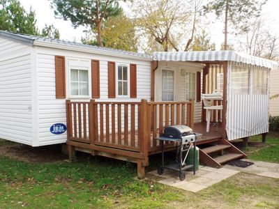 Photo for 3 bedroom mobile home with bikes and baby equipment