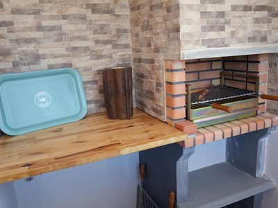 Photo for Apartment with terrace, barbecue, 5 minutes walk from the beach and free WIFI