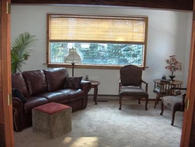 Bright & Sunny Den off LR with French Doors