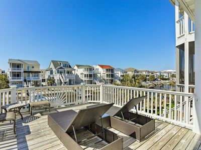 Photo for NEW! Canalfront Ocean Isle Home, 2 Blocks to Beach
