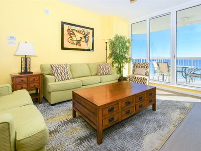 Photo for Upgraded flooring & colorful beachfront condo w/balcony!