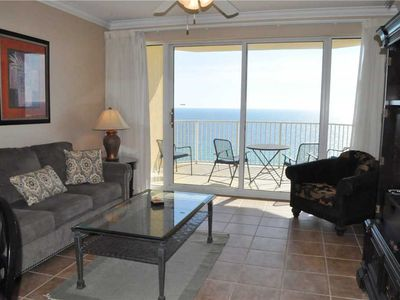 Photo for Huge Balcony, Huge Fun Awaits in Popular Beachfront Condo!