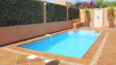 Photo for VILLA, QUIET, HEATED PRIVATE POOL, WI-FI, BBQ, PARKING, NETFLIX - CORRALEJO
