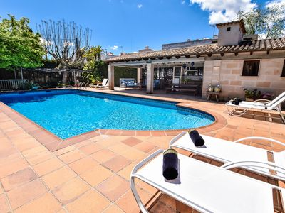 Photo for This 5-bedroom villa for up to 10 guests is located in Lloseta and has a private swimming pool, air-