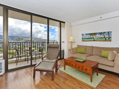 Photo for Mountain view deluxe vacation rental, AC, close to beach, WiFi, pool, parking
