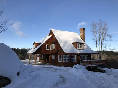 Photo for Stratton ski chalet w/Hot tub on 35 private acres  & vip parking pass