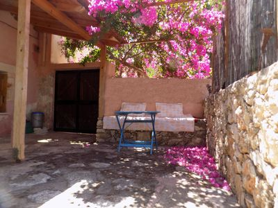 Photo for Plakoura, a quiet and privacy in village square of Plaka with seaview